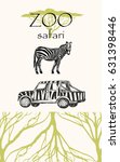 vector hand drawn sketched zoo... | Shutterstock .eps vector #631398446