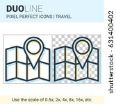 pixel perfect duo line map with ... | Shutterstock .eps vector #631400402