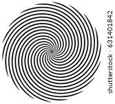circular  radiating abstract... | Shutterstock .eps vector #631401842