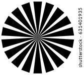 circular pattern of radial ... | Shutterstock .eps vector #631401935