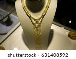 a precious necklace in a... | Shutterstock . vector #631408592