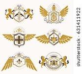 vintage heraldry design... | Shutterstock .eps vector #631411922