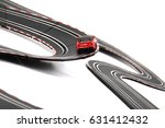 racing track toy isolated on... | Shutterstock . vector #631412432