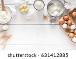 baking background with copy... | Shutterstock . vector #631412885