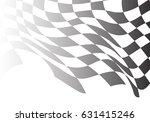 checkered flag flying wave... | Shutterstock .eps vector #631415246