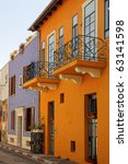 color houses of an old city ... | Shutterstock . vector #63141598