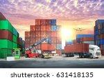 logistics import export... | Shutterstock . vector #631418135