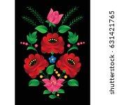 hungarian folk art | Shutterstock .eps vector #631421765