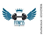 sport logo for weightlifting... | Shutterstock .eps vector #631425836