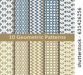vector set of ten geometric... | Shutterstock .eps vector #631426256