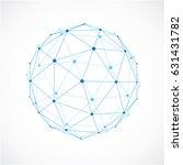vector dimensional wireframe... | Shutterstock .eps vector #631431782