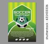 soccer tournament poster or... | Shutterstock .eps vector #631433336