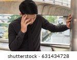 sick dizzy business man with... | Shutterstock . vector #631434728