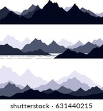 set of hand drawn landscape... | Shutterstock .eps vector #631440215