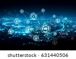 people network connection on...   Shutterstock . vector #631440506