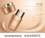 cosmetic ads template   makeup... | Shutterstock .eps vector #631445072