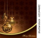 elegant christmas background | Shutterstock .eps vector #63144682