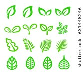 leaf line icon | Shutterstock .eps vector #631448246