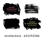 set of black paint  ink brush... | Shutterstock .eps vector #631453286