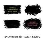set of black paint  ink brush... | Shutterstock .eps vector #631453292