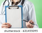 hands of medical doctor | Shutterstock . vector #631455095