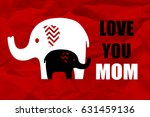 elephant with baby elephant  ... | Shutterstock . vector #631459136