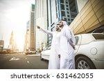 arabic businessmen in dubai | Shutterstock . vector #631462055