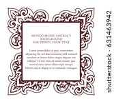 abstract art invitation card | Shutterstock .eps vector #631463942