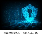 cyber security concept  shield... | Shutterstock .eps vector #631466315