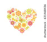 beautiful bright heart made of... | Shutterstock .eps vector #631468436