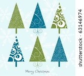 Christmas Card With Trees ...