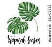 vector tropical leaves  jungle...   Shutterstock .eps vector #631473356