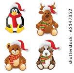 christmas animals   Shutterstock .eps vector #63147352