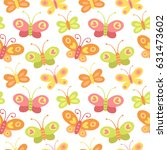 vector seamless pattern with... | Shutterstock .eps vector #631473602