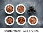 chocolate frosting swirls and... | Shutterstock . vector #631479626