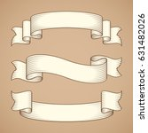 vintage ribbon banners | Shutterstock .eps vector #631482026