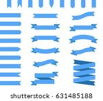 blue ribbons vector set ... | Shutterstock .eps vector #631485188