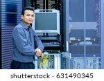 network administrator working... | Shutterstock . vector #631490345