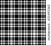 black and white tartan seamless ... | Shutterstock .eps vector #631491362