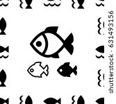 fish icon or logo set isolated. ... | Shutterstock .eps vector #631493156