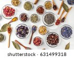 herb tea for beauty and health | Shutterstock . vector #631499318
