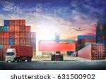 logistics import export... | Shutterstock . vector #631500902