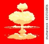 Nuclear Bomb Explosion Vector...