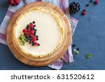 homemade cheesecake with fresh... | Shutterstock . vector #631520612