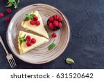 homemade cheesecake with fresh... | Shutterstock . vector #631520642