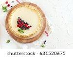 homemade cheesecake with fresh... | Shutterstock . vector #631520675