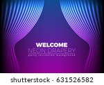 drapery futuristic background...   Shutterstock .eps vector #631526582