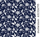 seamless blue chinese...   Shutterstock .eps vector #631526795