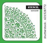 moroccan stencil. template can... | Shutterstock .eps vector #631528772