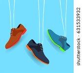 set of hanging shoes. vector | Shutterstock .eps vector #631533932